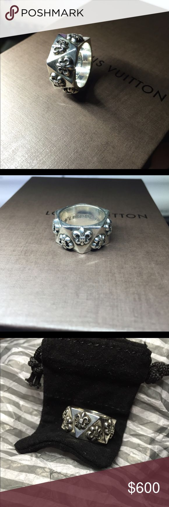 Chrome hearts ring Size 7. AUTH AUTH AUTH   Comes with the dustbag. Chrome Hearts Jewelry Rings