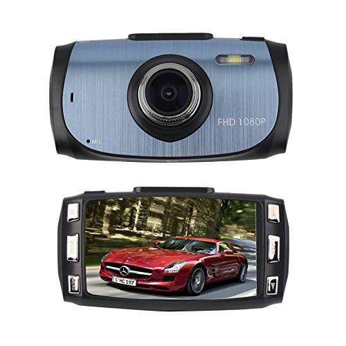 CrewPros (TM) Caméra numérique de tableau de bord Full HD 1080p Caméra de recul Vision nocturne 170°: Caractéristiques: 6,9cm LTPS écran…