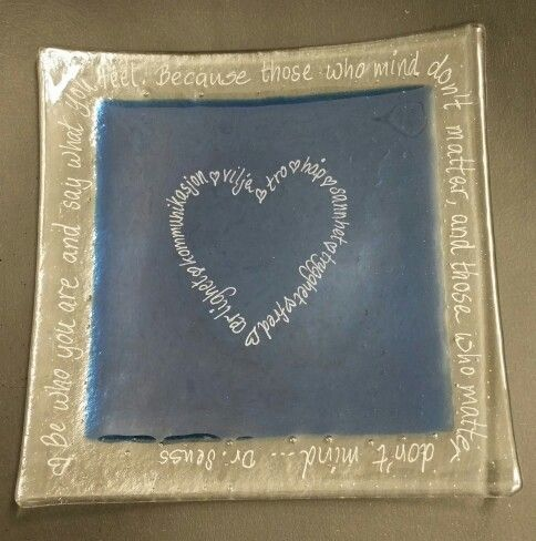 December 21st: fused glass plate