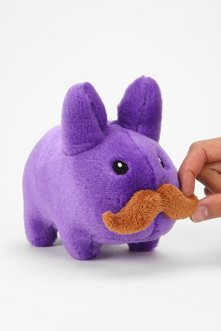 Bunnies n' staches. Nothin' better. #urbanoutfitters: Puppets, Plush Labbit, Bunnies Mustache, Bunnies Urbanoutfitt, Kozik Plush, Mustache Urbanoutfitters, Mustache D, Products, Awesome Stuff