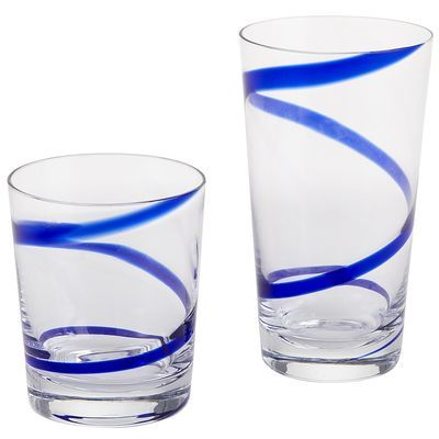 Spiral Line Tumblers - Blue