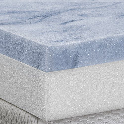 DreamDNA Gel Infused Queen Size 4 Inch Thick, Visco Elastic Memory Foam Mattress Bed Topper Made in the USA