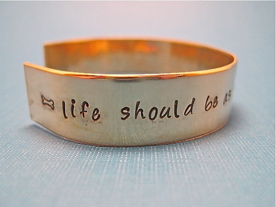 Brass Cuffs- 1/2 inch brass cuff hand stamped, personalized, and custom made for you