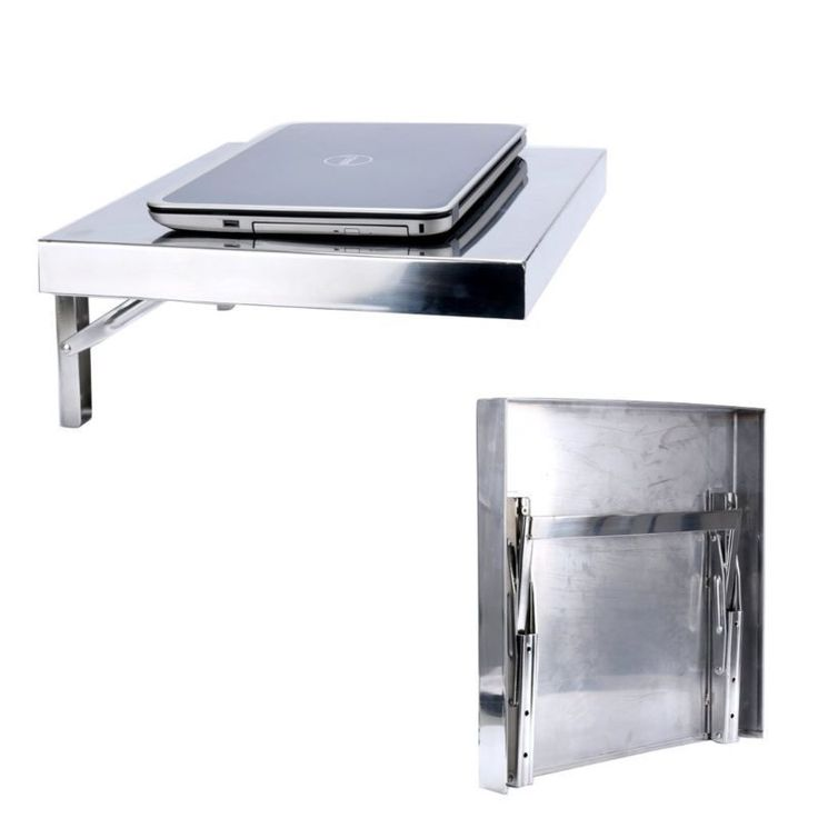 Convenient Workstation Stainless Wall mounted Folding Laptop PC Desk M9909S SSA #Unbranded