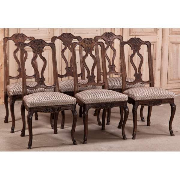 Antique Dining Chairs Set Of 6 Vintage Liegoise Www Inessa
