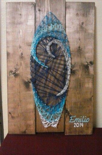 Surf Board String Art
