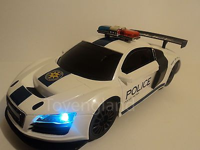 Audi r8 #police radio #remote control car front light 1/16 #scale (new boxed),  View more on the LINK: http://www.zeppy.io/product/gb/2/181575454302/
