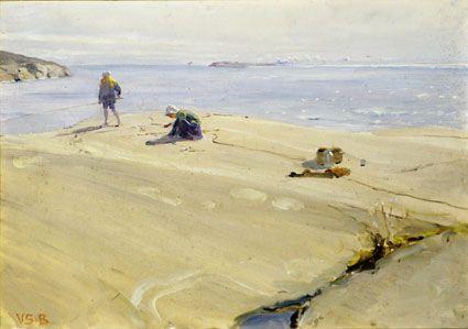 """Wendla """"Venny"""" Irene Soldan-Brofeldt (1863-1945), Fishing - Kalastajia"""