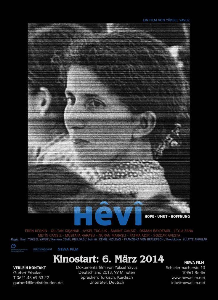 Hêvî – Hoffnung - Regie und Drehbuch: Yüksel Yavuz. Die Dokumentation porträtiert vier kurdische Frauen, die auf unterschiedliche Weise Widerstand gegen die Unterdrückung ihres Volkes leisten. Schön zu sehen, wie optimistisch diese Frauen trotz teils schlimmster Erfahrungen wie Gefängnisaufenthalten  verbunden mit Folterungen sind. Das könnte Hoffnung geben, allein es fehlt mir der Glaube, dass wir Menschen irgendwann einmal friedlich miteinander umgehen werden. Dennoch: Sehr sehenswert!