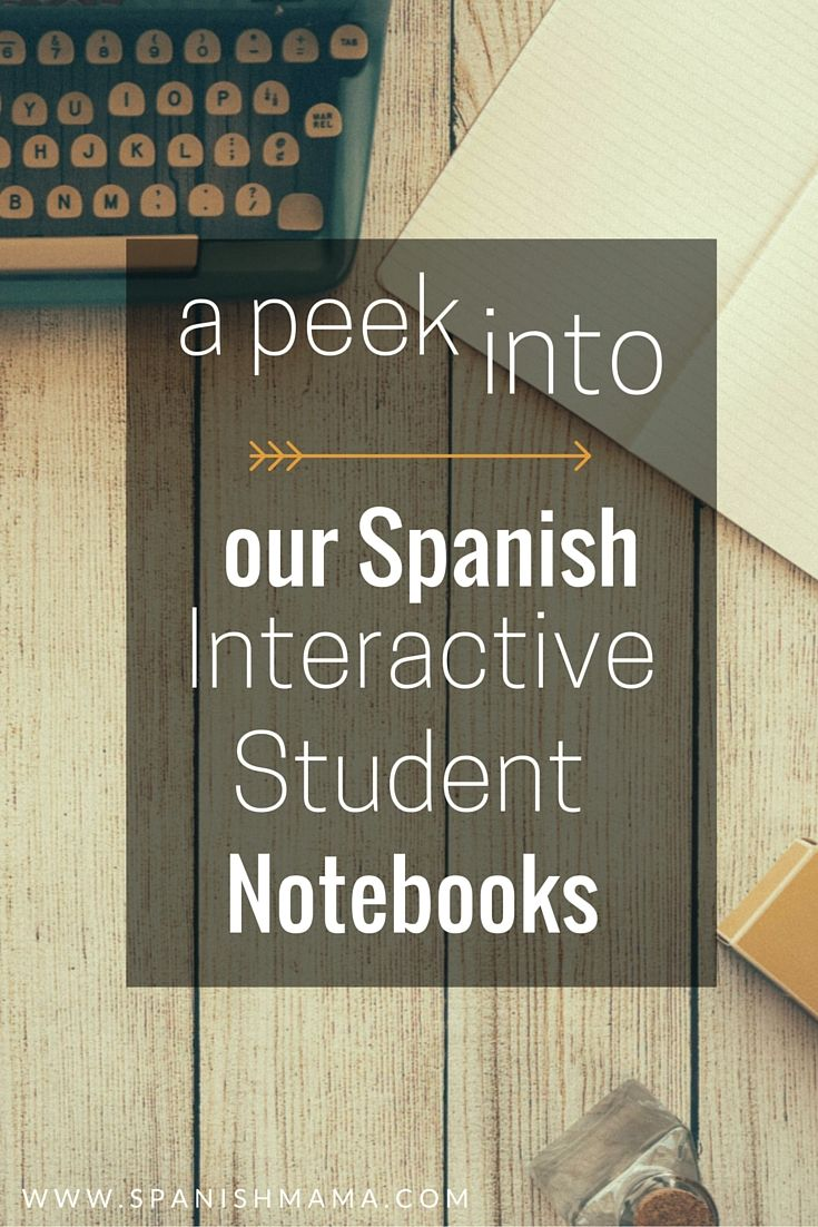 our spanish interactive notebooks (1) Must check out her step by step transition to proficience based, CI classroom