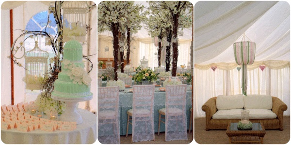 White Crafts Wedding Blog - wedding decorations. Lace chair covers & ribbon wedding decor hire from House of Bunting  styling Finesse Planning - UK