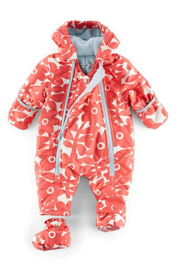 Mini Boden Floral Print Snowsuit (Baby Girls) | Nordstrom