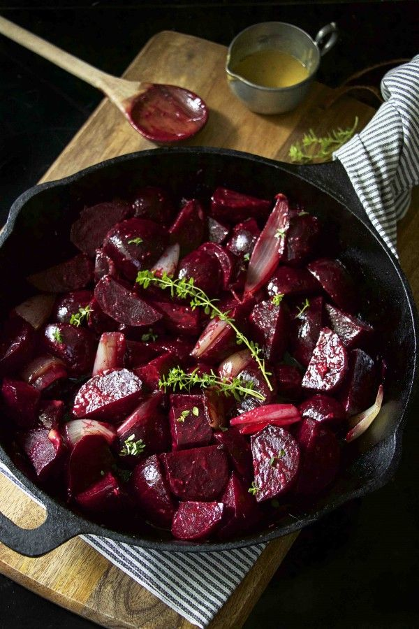 To Try: Roasted Beets and Shallots with Mustard Vinaigrette