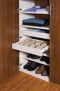 Walk-in Closet Sliding Drawers contemporary closet organizers