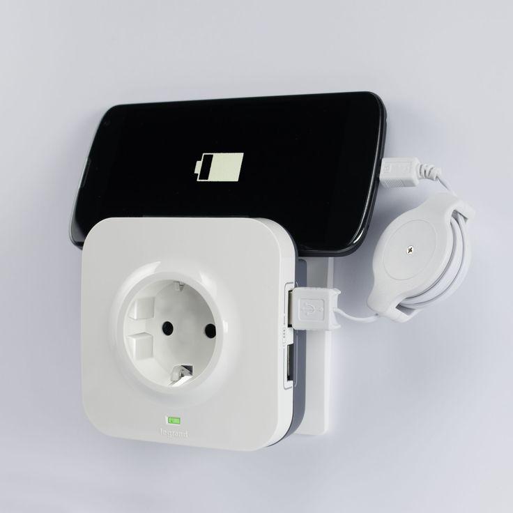 Twee telefoons/tablet opladen en dan nog je stopcontact niet kwijt, handig!