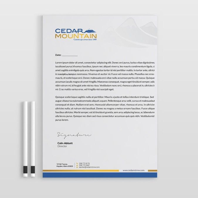 7+1 Corporate Letterhead Templates Pack Letterhead template and - professional letterhead
