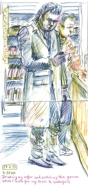 An Illustrator's Life For Me!: sketching on the train