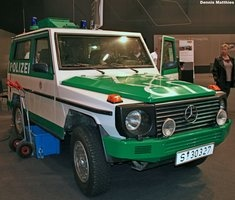 Mercedes G Wagen Police Car.