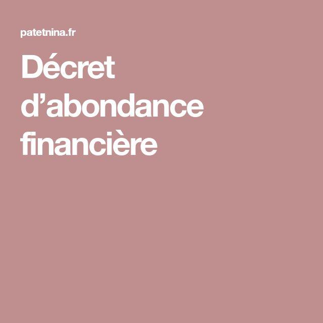 Décret d'abondance financière