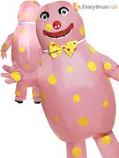 Adult Mr Blobby Costume Men Inflatable Fancy Dress 1990s Funny Stag Party Outfit