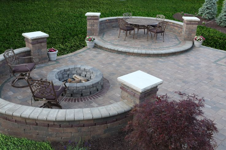 patios with fire pits | Baron Landscaping » Outdoor Fireplace Pictures, Cleveland Landscaping ...