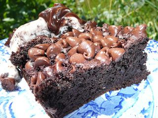 Everyday Dutch Oven: Chocolate Pudding Dump Cake, make my own cake and do shaved dark chocolate on tope.
