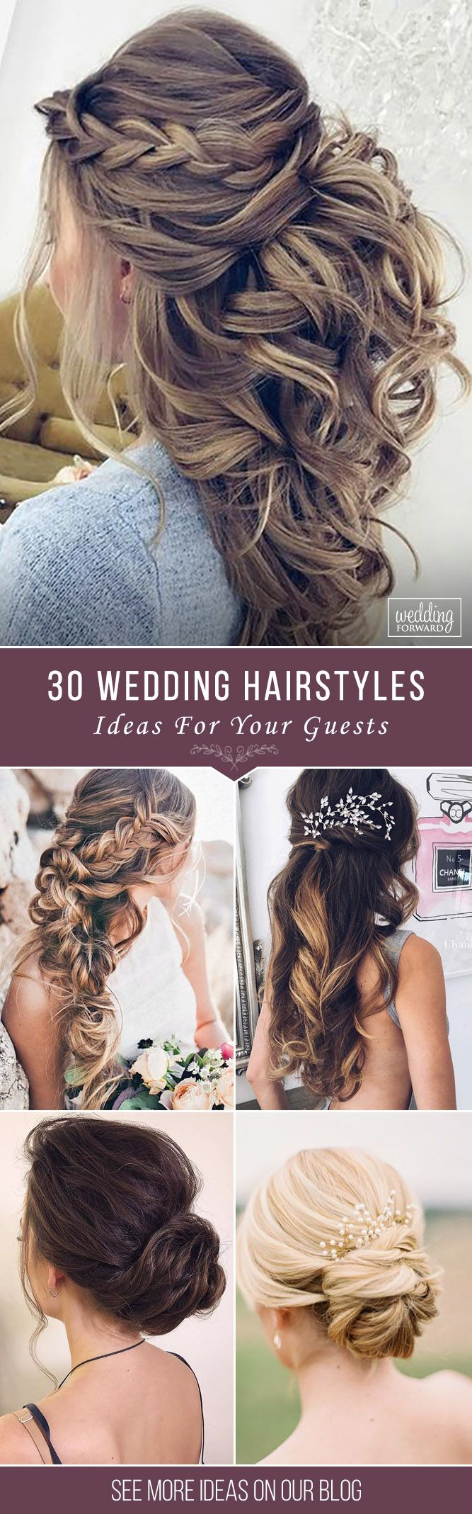 30 Chic And Easy Wedding Guest Hairstyles ❤ Wedding guest hairstyles should be fancy, rather effortless than very difficult. In our gallery we have something any female guest would want for sure! See more: http://www.weddingforward.com/wedding-guest-hairstyles/ ‎#wedding #weddingguesthairstyles