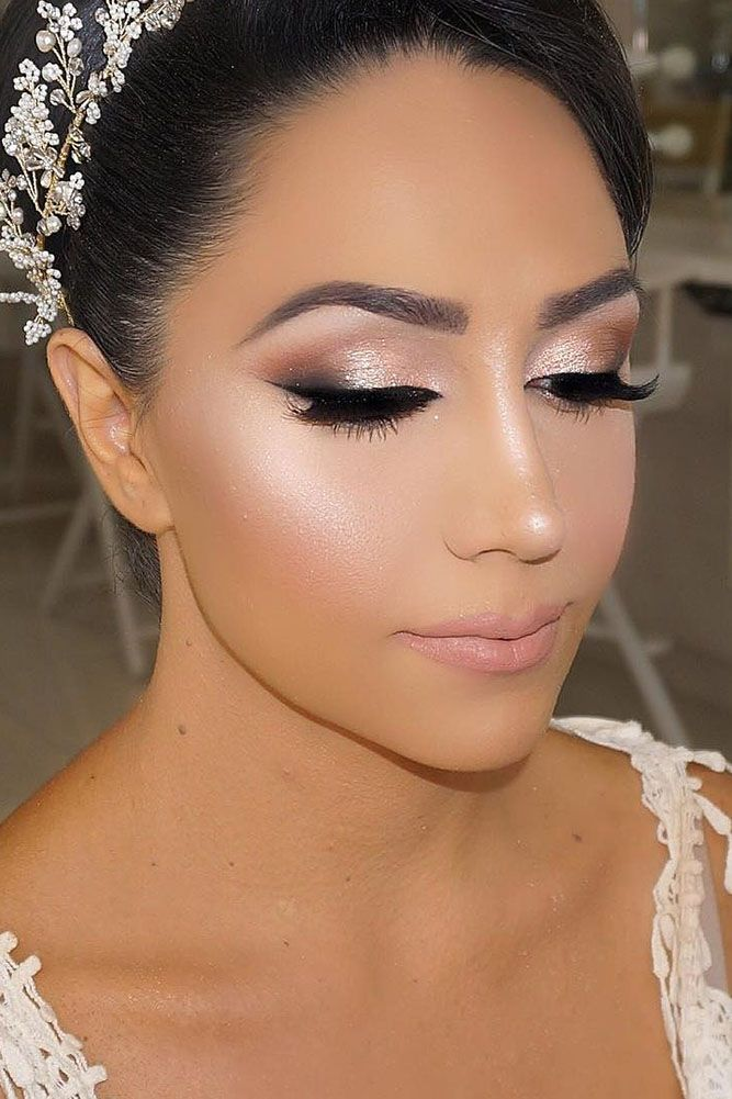 Beauty Make Up: 36 Bright Wedding Makeup Ideas For Brunettes