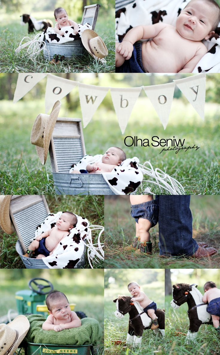 2month old cowboy horse washboard john deere tractor