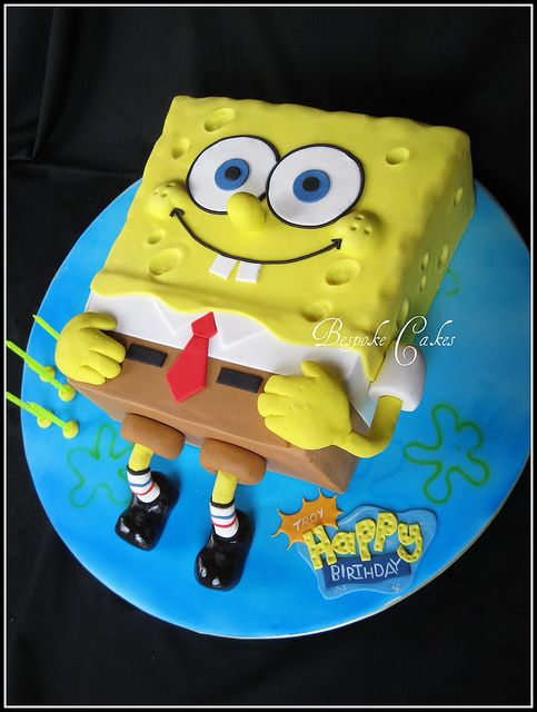 Sponge bob square pants by Bespoke Cakes, via Flickr