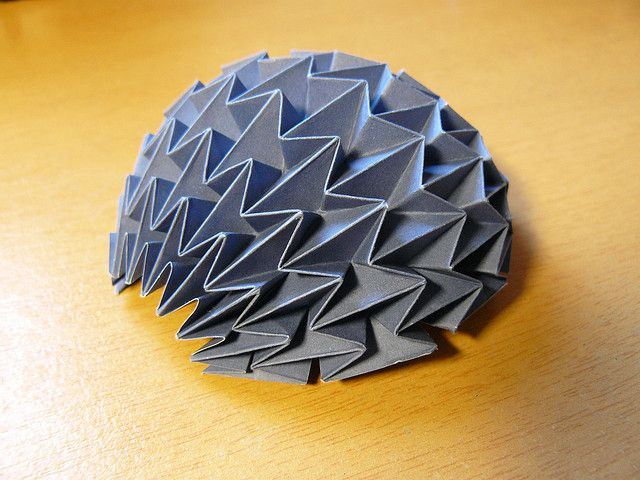Waterbomb Base Corrugation Hemisphere Projects To Try