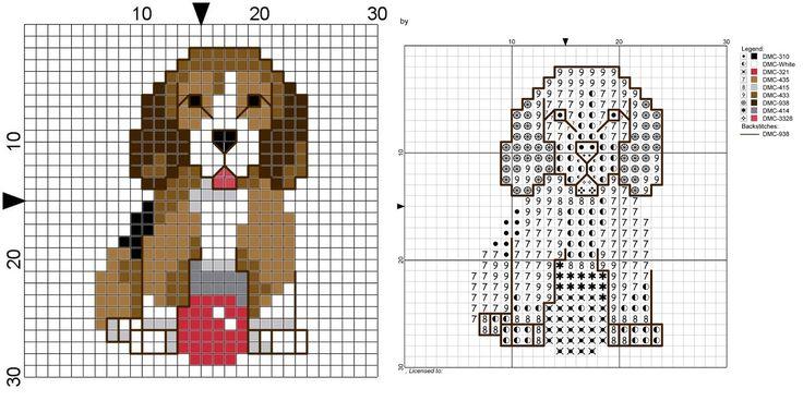 simple beagle cross stitch pattern