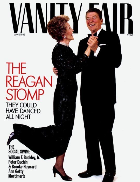 RONALD AND NANCY REAGAN Photographed by Harry Benson for the June 1985 cover.