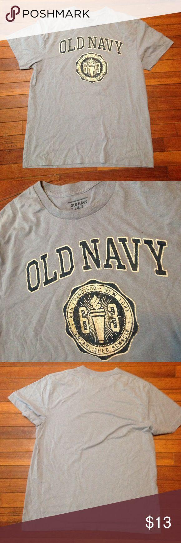 ❤️$13 SALE MENS LARGE Old Navy ❤️❤️$13 SALE MENS LARGE old navy short sleeve top blue cotton front logo comfy Old Navy Shirts Tees - Short Sleeve