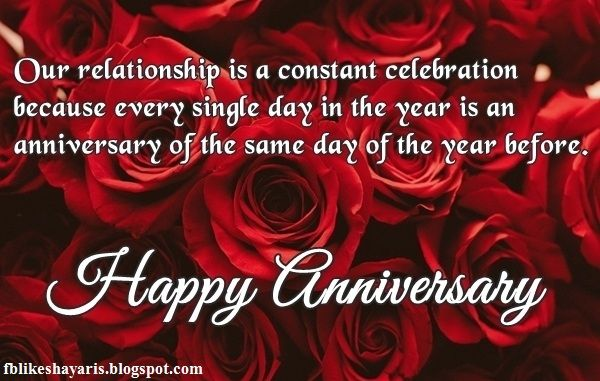 Anniversary Wishes for Girlfriend Happy Anniversary Quotes for Facebook WhatsApp Picture SMS   collection of anniversary quote images for girlfriend. You can easily share anniversary wishes image for facebook whatsapp picture sms.  Our relationship is a constant celebration because every single day in the year is an anniversary of the same day of the year before. Happy anniversary.  After 365 days I still cant believe that youre my girlfriend. How lucky could I be? I am so blessed to have a…
