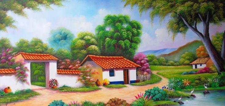 paisajes al oleo de pintores colombianos - Buscar con Google