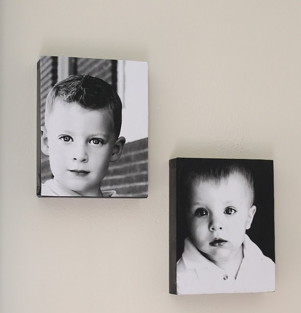 Complete instructions on how to turn portraits into mod podge canvas wall hangings.: Photos Boxes, Canvas Photos, Modg Podge, Crafts Ideas, Canvas Prints, Photos Canvas, Mod Podge, Diy Canvas, Podge Photos