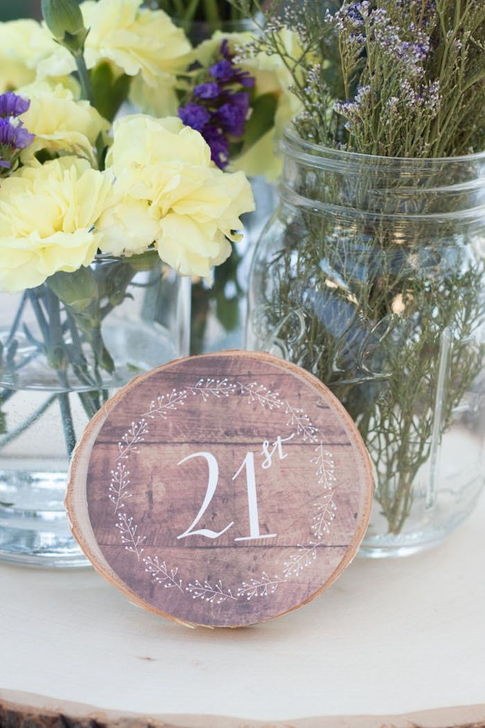 Rustic Twenty First Birthday Party via Kara's Party Ideas KarasPartyIdeas.com (6)
