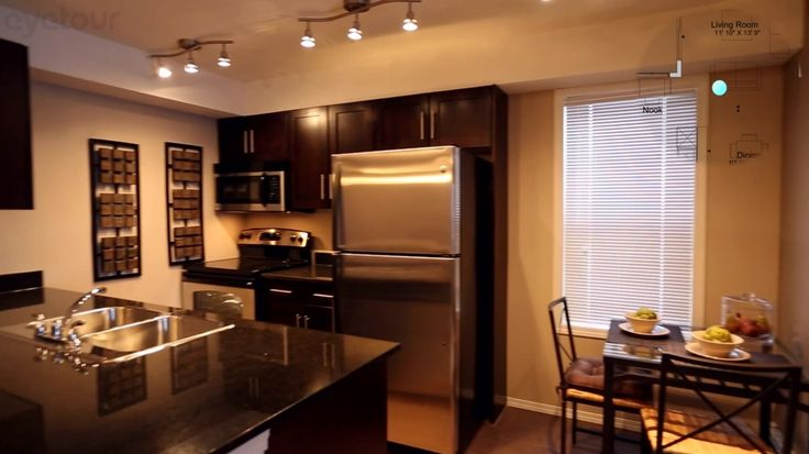 Layout of Kitchen most units have this layout Indigo Sky show suite upgrade Cabinet to wood shaker & upgrade granite & upgrade Classic appliances