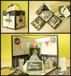 "Arte, Artesania y Manualidades: Explosion Box ""Happy Birthday"""