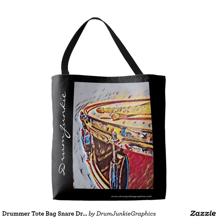 Drummer Tote Bag Snare Drum Art Music Purse