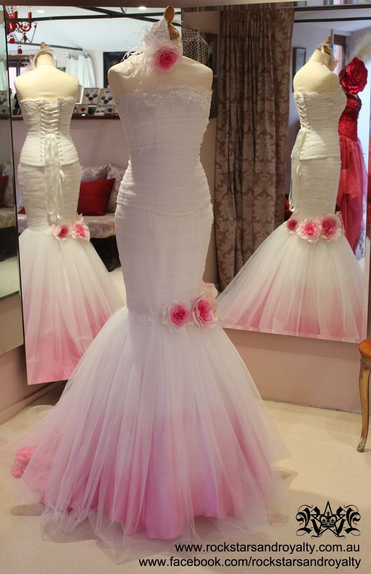 17 best images about peacock wedding theme on pinterest for Pink ombre wedding dress