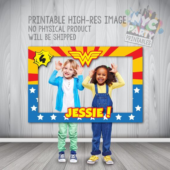Wonder Woman Photo Booth Wonder Woman by NYCPartyPrintables