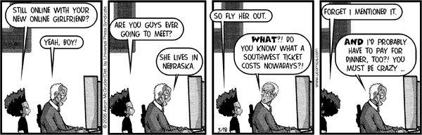 The Boondocks Comic Strip, October 19, 2013 on GoComics.com