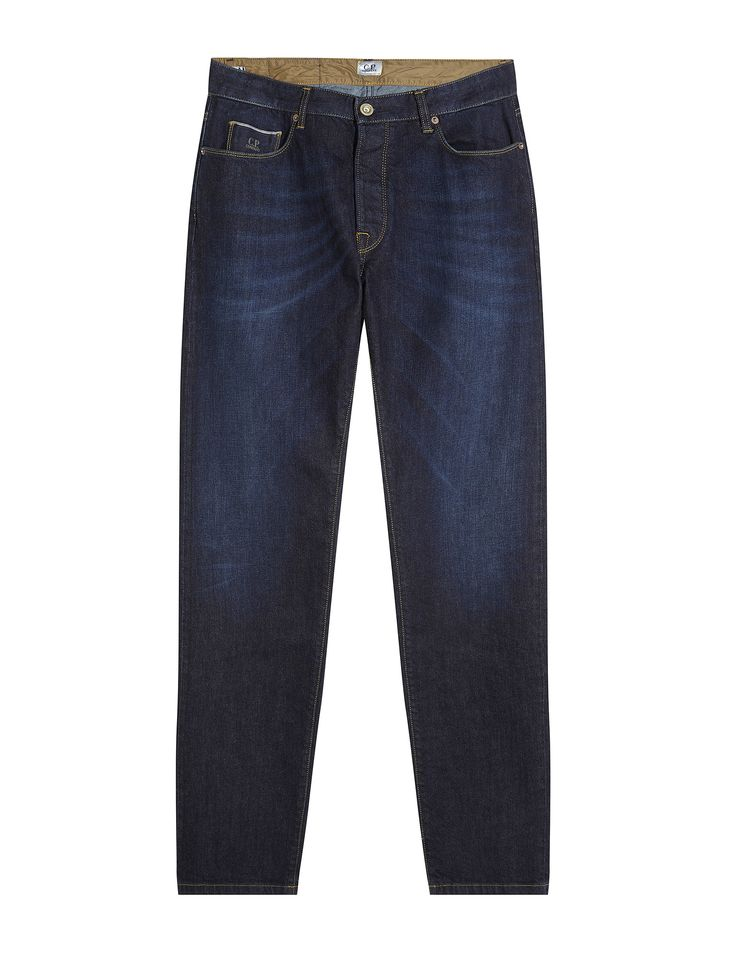 C.P. Company Washed Indigo Five-Pocket Denim Jeans