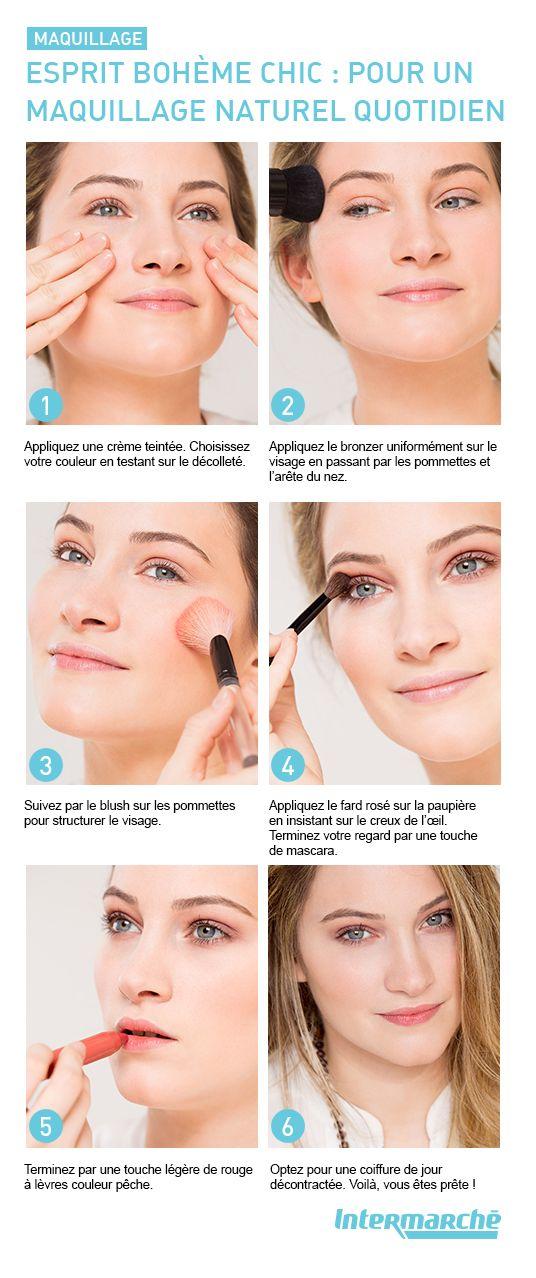 Offrez-vous un #maquillage esprit bohème chic pour le printemps en quelques gestes. #tutoriel #beauté #look