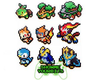 ITEM DETAILS: These are 100% handmade Pokémon Sprites. They are made out of plastic beads that have been fused together. These Pokémon sprites are available individually or in sets of 9 (New and Old sprites). Shiny versions of these sprites are also available.  EXTRAS: These specific sprites have many finishes available for no added charge. You can make them into pins, magnets, key chains, Christmas ornaments, or necklaces (Short 16 in.) (Medium 24in.) (Long 36 in.). If you don't want a…