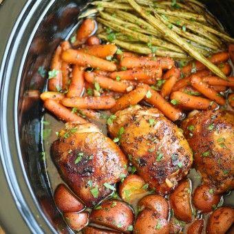 http://damndelicious.net/2015/06/05/slow-cooker-honey-garlic-chicken-and-veggies/
