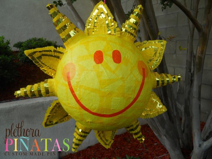 how to make a sun pinata