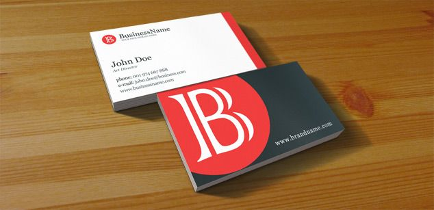 Clean Business Card - PSD Print Template